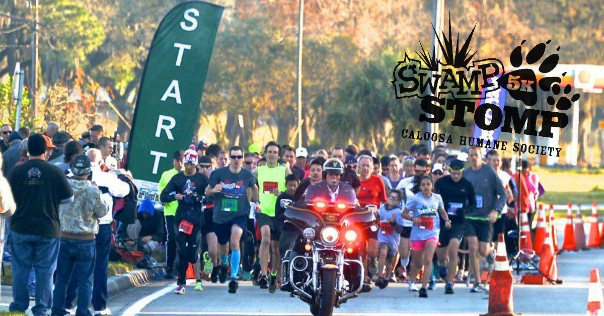 Caloosa Humane Society's 2019 Swamp Stomp 5K Run/Walk | February 23 from 6:30 AM - 7:30 PM